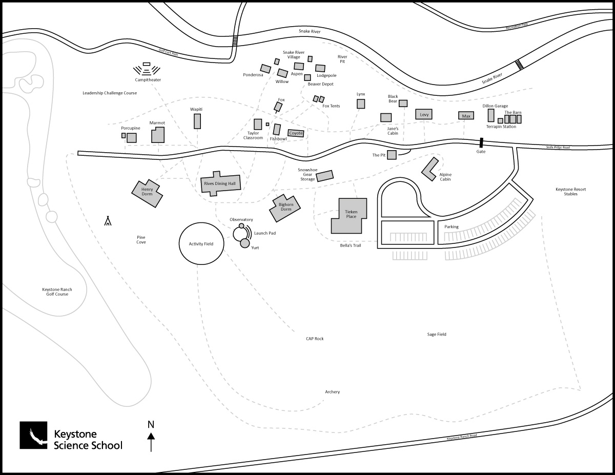 Keystone Science School Pennington Campus Map